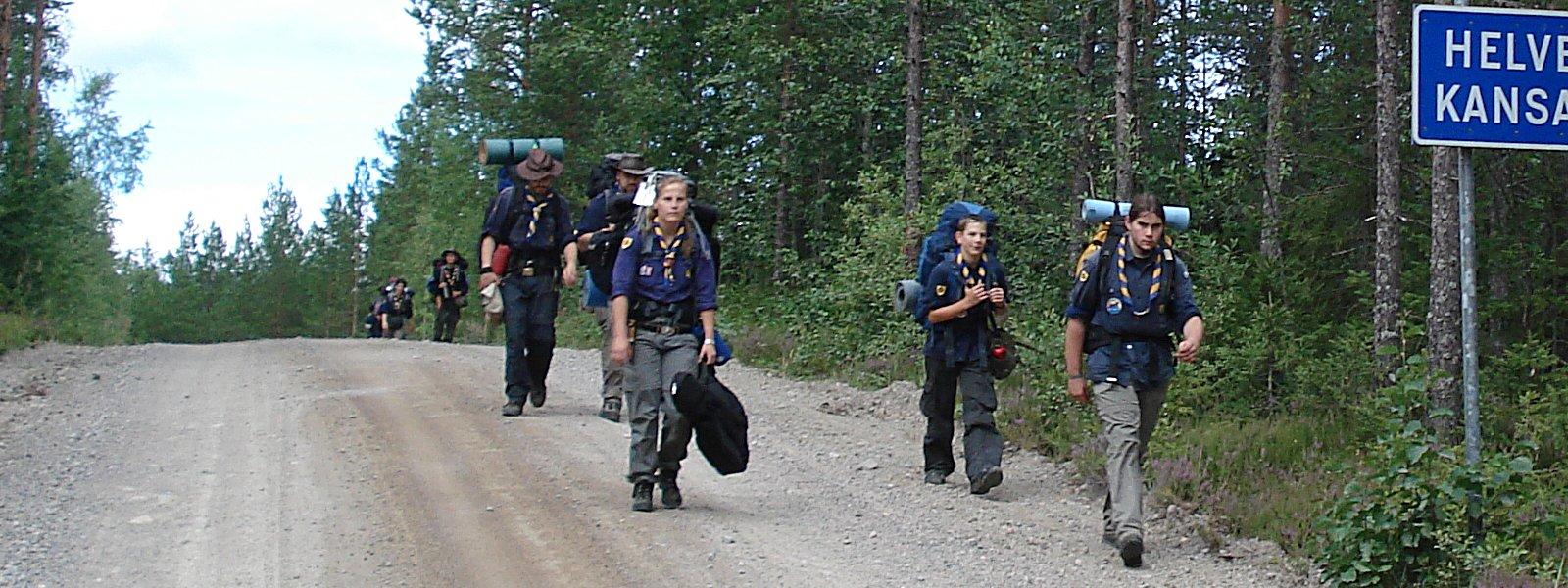 Unterwegs im Helvetinjärvi-Nationalpark (Finnland 2008)
